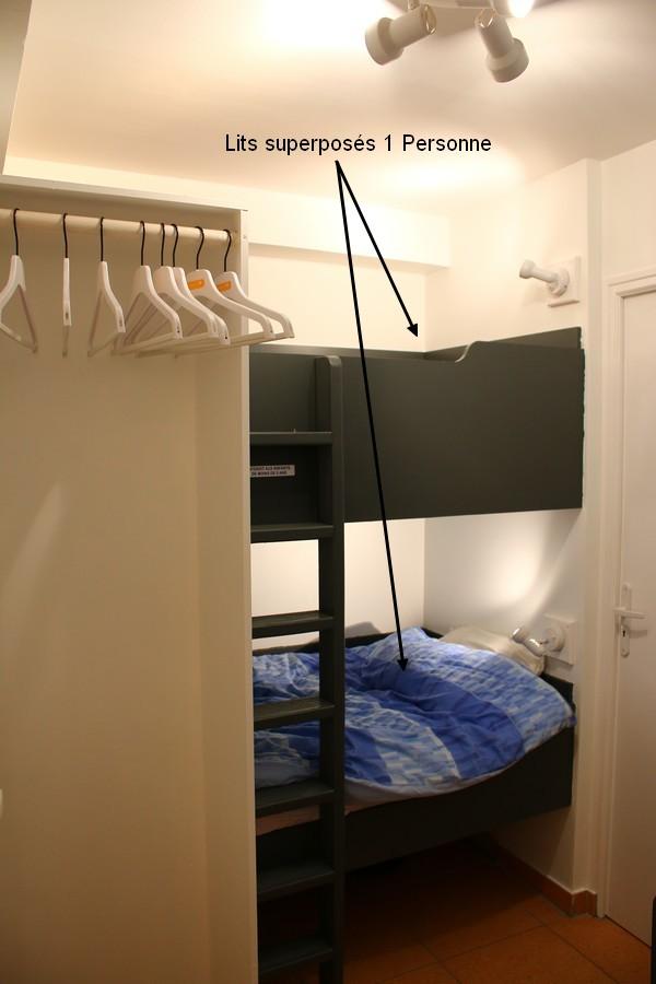 les lits superposés 1 personne, location à Piau Engaly